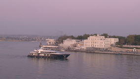 Evening Walk On A Luxury Yacht stock video