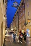 On an evening walk in Salzburg Stock Photos