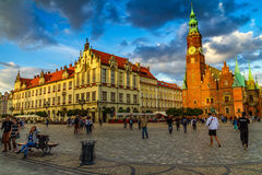 Evening walk in Wroclaw, Silesia, Poland Stock Photography