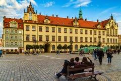 Evening walk in Wroclaw, Silesia, Poland Stock Photos
