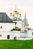 Evening walking-tour to the Orthodox church Royalty Free Stock Images
