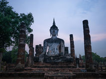 Evening at Wat Mahathat Stock Photography