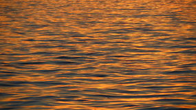 Evening Water. Calm water moving slowly as the sun begins to set Royalty Free Stock Photos