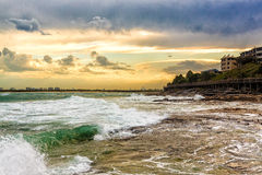 Evening Waves In Caloundra Stock Images