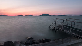 Evening waves of Lake Balaton Royalty Free Stock Image