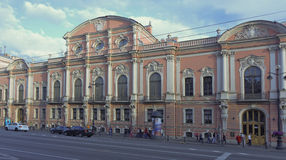 Evening in the white nights on July 5; 2015 in St. Petersburg Stock Image