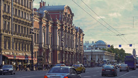 Evening in the white nights on July 5; 2015 in St. Petersburg Royalty Free Stock Photo
