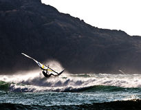 Evening windsurfer Stock Photography