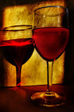 Evening wine Royalty Free Stock Images