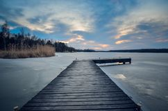 Evening winter landscape. Stock Photo