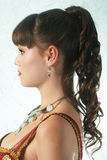Evening woman coiffure Stock Images