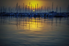 Evening Yacht Club Royalty Free Stock Images