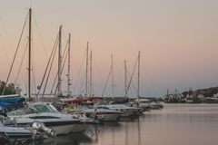 Evening at the Yacht Club Royalty Free Stock Photos