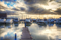 Evening yachts marine,  Algarve, Portugal Royalty Free Stock Images