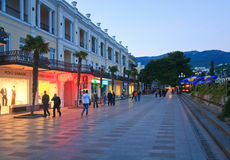 Evening Yalta City (Crimea, Ukraine) Royalty Free Stock Photography