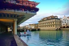 Evening in Zurich royalty free stock photos
