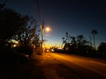 Evening road stock photography
