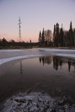 Evenings landscape. Royalty Free Stock Image
