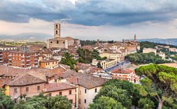 Eveninig view of Perugia, Italy Royalty Free Stock Image