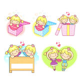 Event activities to the prince and princess Mascot. A couple of Royalty Free Stock Image
