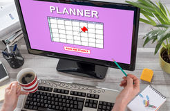 Event adding on planner concept on a computer Royalty Free Stock Images