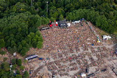 Event aerial photography Royalty Free Stock Images