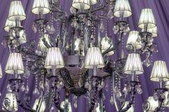 Event ballroom chandelier Stock Image