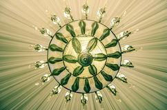 Event ballroom chandelier Stock Photography