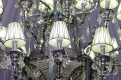 Event ballroom chandelier Royalty Free Stock Photos
