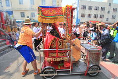 Event of 2015 Cheung Chau Bun Festival in Hong Kong Royalty Free Stock Photos