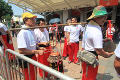 Event of 2015 Cheung Chau Bun Festival in Hong Kong Stock Image