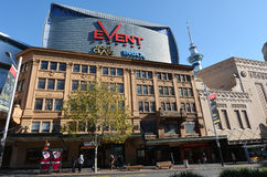 Event Cinemas in Auckland - New Zealand. AUCKLAND,  NZL - AUG 11 2015:Event Cinemas on Queen street in Auckland CBD Finanical cetre, New Zealand.Event Cinemas Royalty Free Stock Images