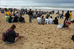 Event crowd in Rip Curl men's Royalty Free Stock Images