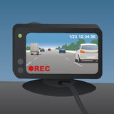 Event Data Recorder(Drive Recorder), vector illustration Stock Images