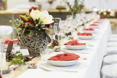 Event decoration. Beautiful wedding event decoration for various celebration style Royalty Free Stock Photography