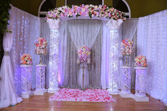 Event Decoration and Design with Roses Stock Photo