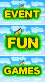 Event fun games Stock Images