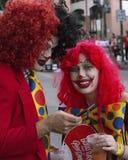 Clown Redhead stock image