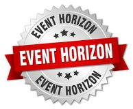 Event horizon badge. Event horizon round badge with ribbon royalty free illustration