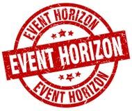Event horizon round red stamp. Event horizon round red grunge stamp Royalty Free Stock Images