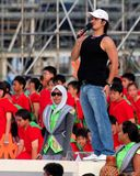 Event host Gurmit Singh at NDP 2009 rehearsal Royalty Free Stock Photos