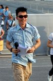 Event host Mark Lee at NDP 2009 rehearsal Stock Image
