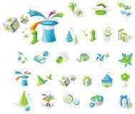 Event icon set Stock Photo