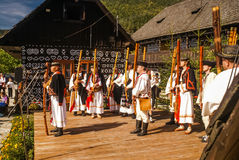 Event in Čičmany in Slovakia Stock Photo