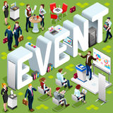 Event Isometric People 3D Set Vector Illustration Royalty Free Stock Photo