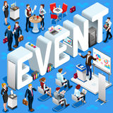 Event Isometric People Icon 3D Set Vector Illustration Royalty Free Stock Photos