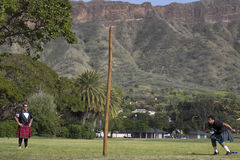 Caber High Noon. Event:  32nd Annual Hawaiian Scottish Festival and Highland Games Stock Image
