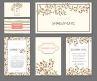 Event painted floral background. Design stationery set in  format. Wedding, invitations, shabby chic. Postcard, congratulations banner Stock Images