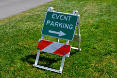 Event Parking. An image of an Event Parking sign Stock Photo