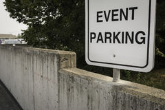 Event Parking Sign Stock Images